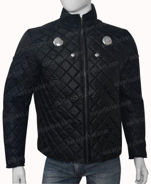 Rokk Krinn Smallville Cosmic Boy Quilted Black Jacket Front
