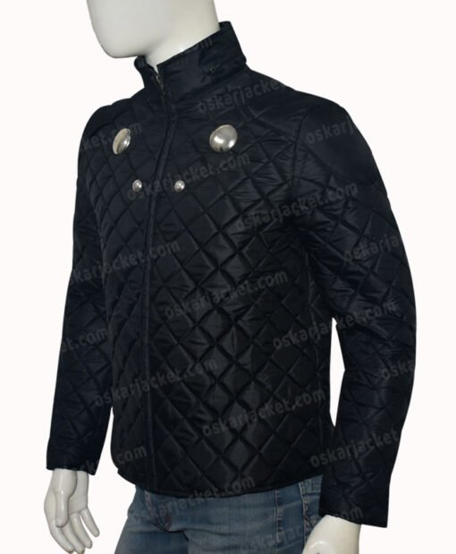 Rokk Krinn Smallville Cosmic Boy Quilted Black Jacket Left