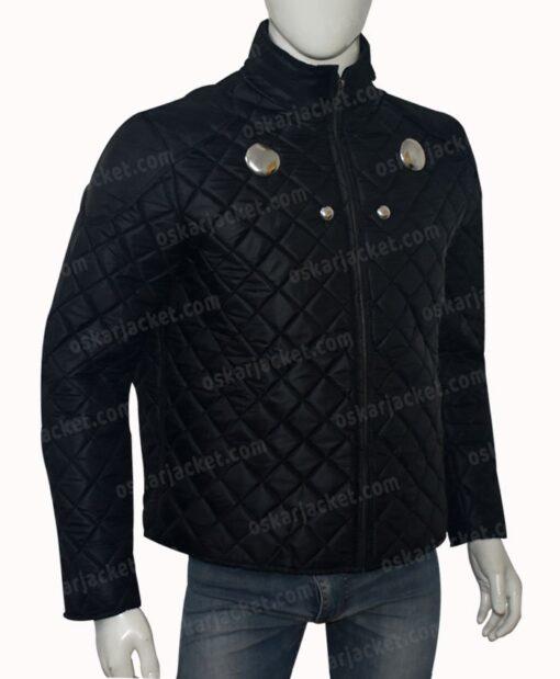 Rokk Krinn Smallville Cosmic Boy Quilted Black Jacket Right
