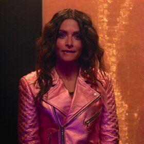 SexLife Billie Connelly Pink Biker Leather Jacket