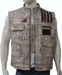 Star Wars The Rise of Skywalker Finn Vest Unzipped