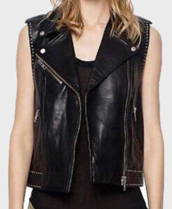 TV Series Lucifer Mazikeen Black Leather Vest 2