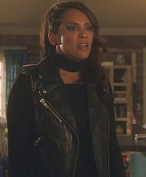TV Series Lucifer Mazikeen Black Leather Vest