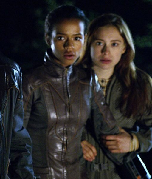 Taylor Russell Lost In Space Brown Leather Jacket
