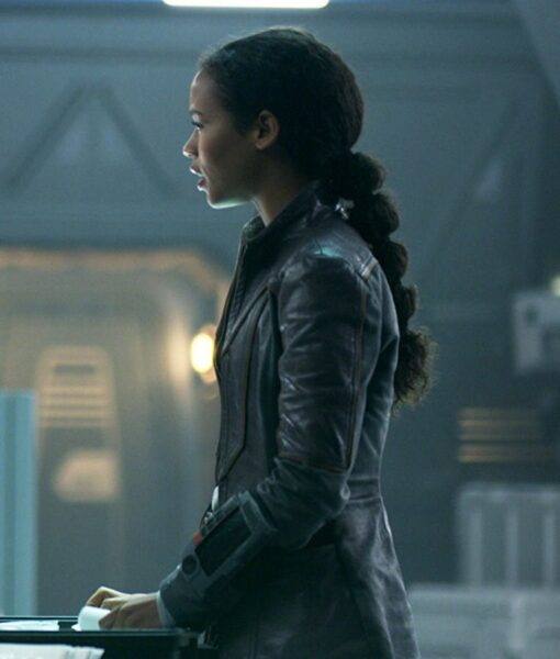 Taylor Russell Lost In Space Leather Jacket