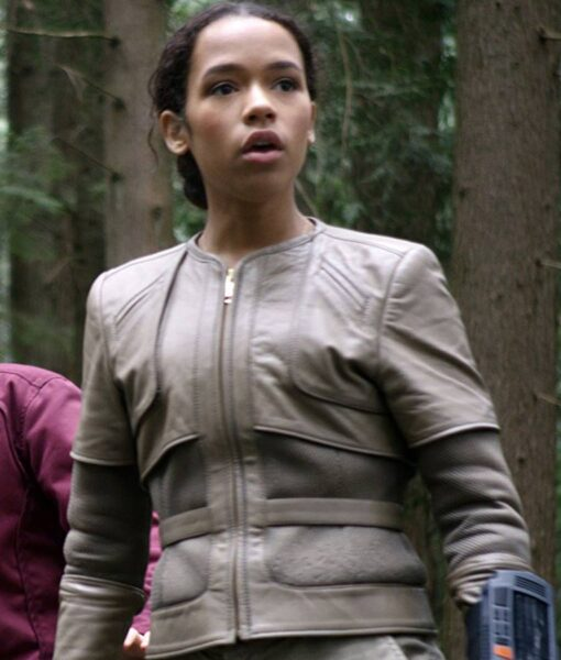 Taylor Russell Lost In Space White Jacket
