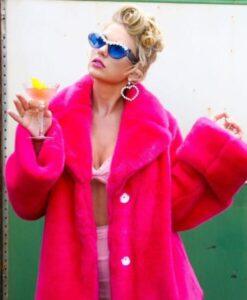 Taylor-Swift-Pink-Fur-Jacket