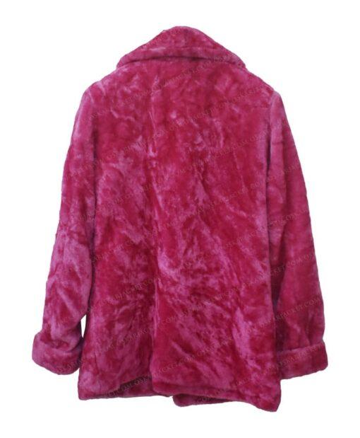 Taylor Swift Pink Fur Jacket Back