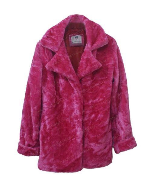Taylor Swift Pink Fur Jacket Front