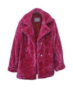 Taylor Swift Pink Fur Jacket Front Open