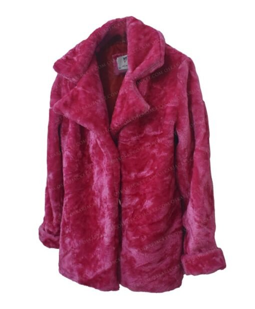 Taylor Swift Pink Fur Jacket Side
