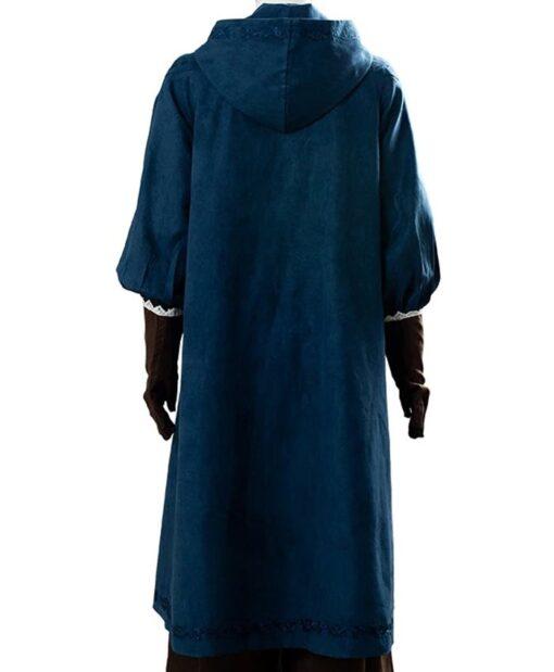 The Witcher Ciri Hooded Blue Coat Back