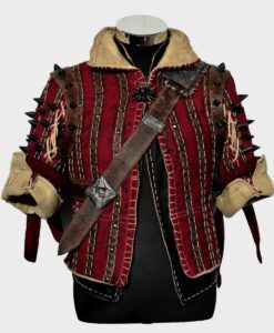 The Witcher Eskel Red Jacket