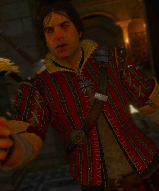The Witcher Eskel Red Jacket Front Image