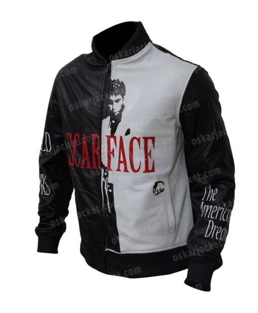 Tony Montana Scarface Al Pacino Black and White Jacket