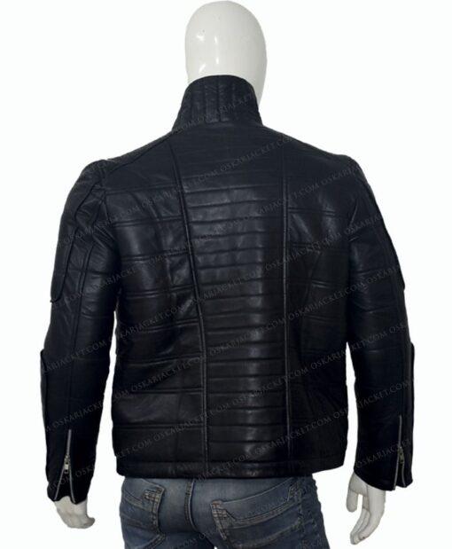 Trevor Calcote Cold Pursuit Leather Jacket Back