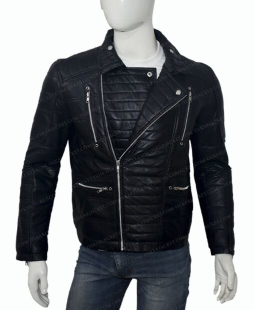 Trevor Calcote Cold Pursuit Leather Jacket Front