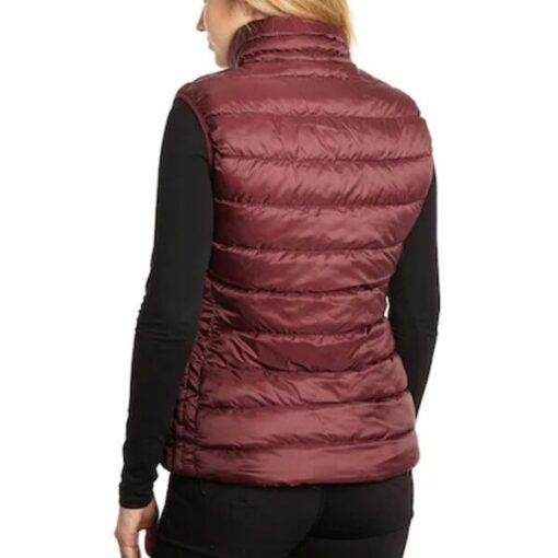 Virgin River Melinda Monroe Maroon Puffer Vest Back