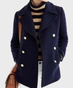 Virgin River Paige Lassiter Blue Double-Breasted Coat