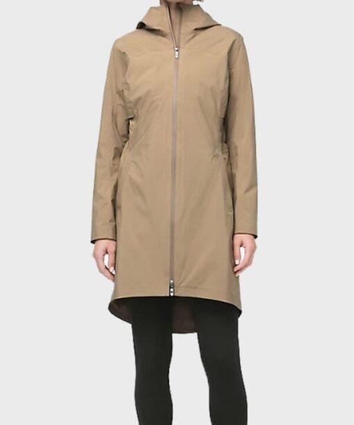 Virgin River S02 Melinda Monroe Beige Cotton Coat Front