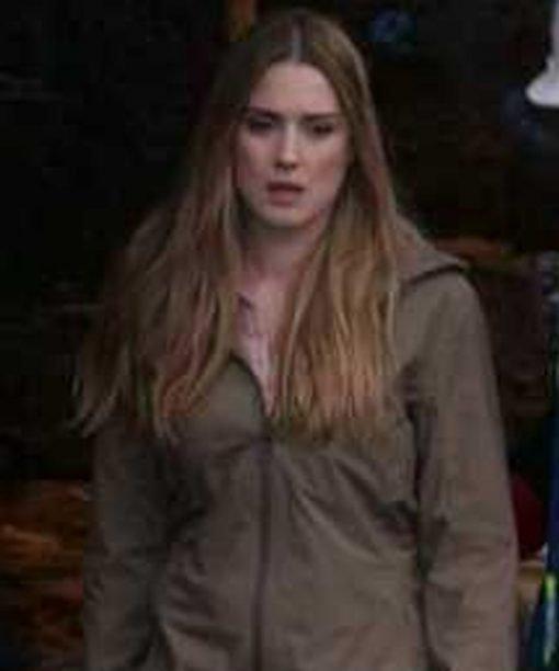 Virgin River S02 Melinda Monroe Beige Cotton Coat