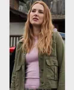 Virgin River S02 Melinda Monroe Green Cotton Jacket
