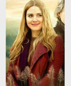 Virgin River S02 Melinda Monroe Real Leather Red Jacket