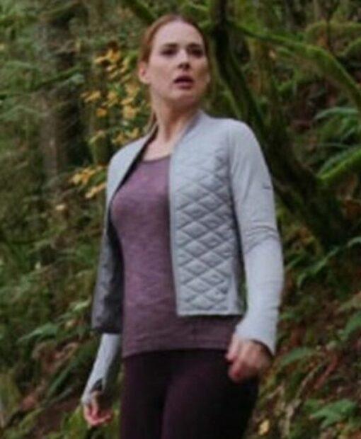 Virgin River S02 Melinda Monroe White Quilted Satin Jacket