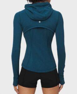 Virgin River Season 2 Melinda Monroe Blue Hooded Jacket Back