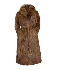 Women Brown Karakul Fur Coat