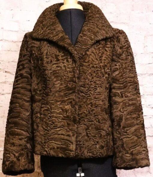 Women Persian Lamb Brown Jacket