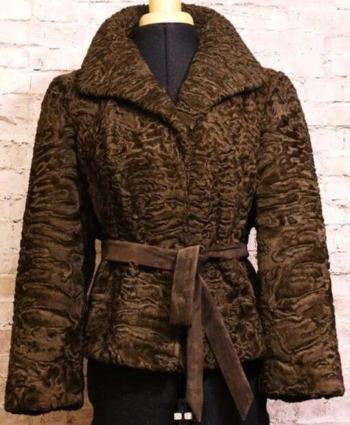 Women Persian Lamb Brown Jacket Image