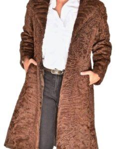 Women Swakara Lamb Fur Coat