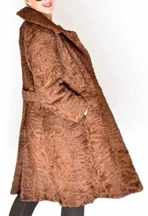 Women Swakara Lamb Fur Coat Side Image