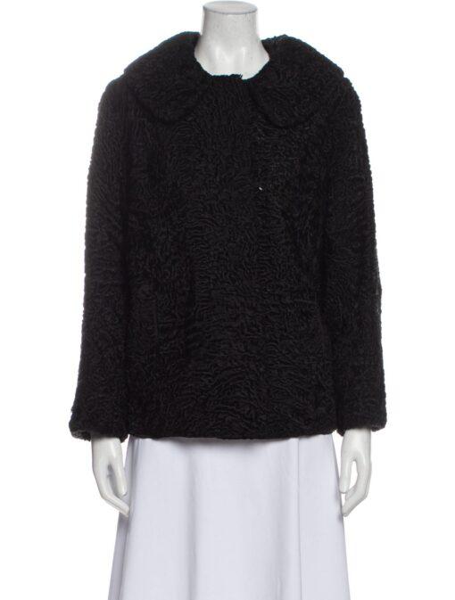 Women Vintage Persian Lamb Fur Jacket