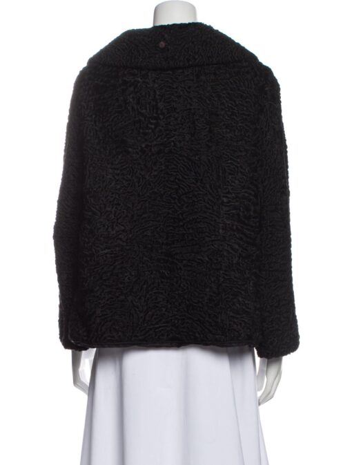 Women Vintage Persian Lamb Fur Jacket Back