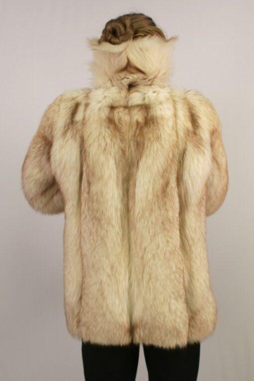 Womens Vintage Arctic Fox Fur Coat Back 2