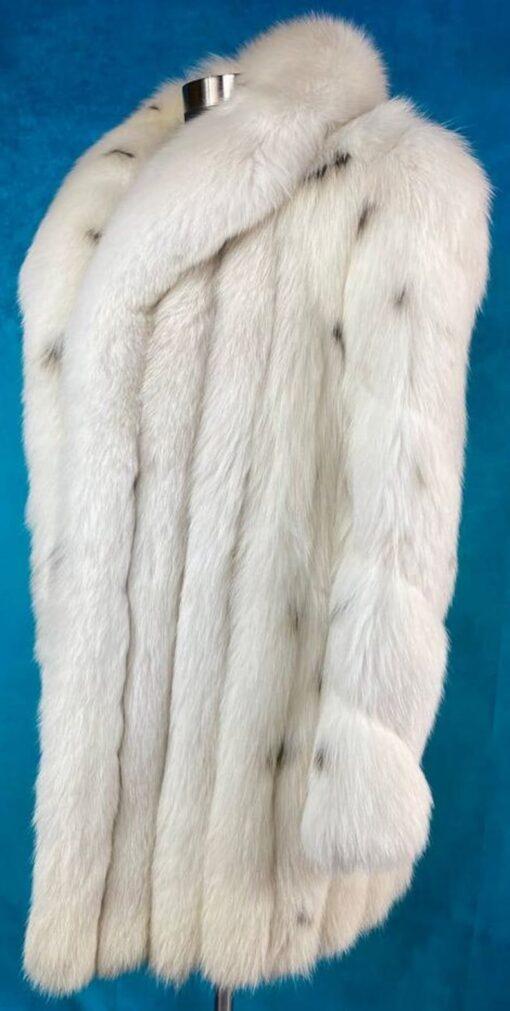 Women's Vintage White Fox Fur Coat Left