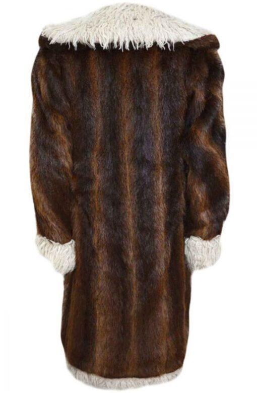 XXX Return Of Xander Cage Nutria Fur Brown & Black CoatBack