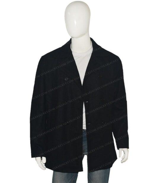 Yellowstone Walker Wool Blend Grey Peacoat Unbuttoned