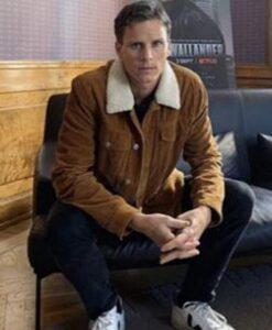 Young Wallander Adam Palsson Brown Jacket