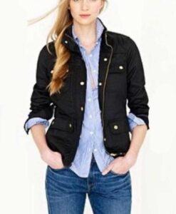 Young Wallander Frida Rask Leather Black Jacket 2