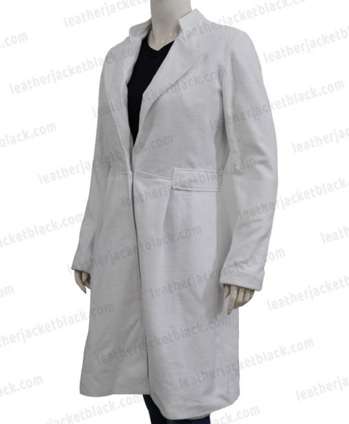 Alice Braga Queen of The South Wool White Coat Left
