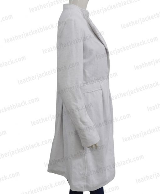 Alice Braga Queen of The South Wool White Coat Right