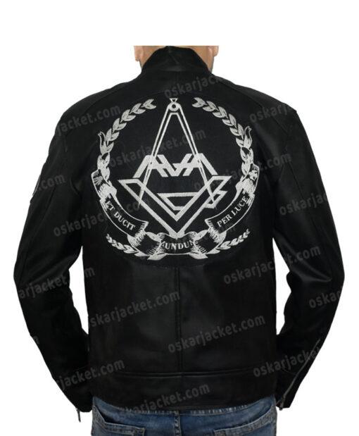 Angels & Airwaves Tom Delonge Black Real Leather Jacket Back
