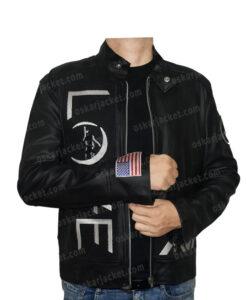 Angels & Airwaves Tom Delonge Black Real Leather Jacket Front