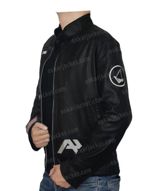 Angels & Airwaves Tom Delonge Black Real Leather Jacket Left