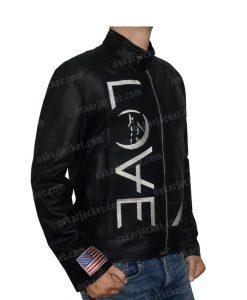 Angels & Airwaves Tom Delonge Black Real Leather Jacket Right
