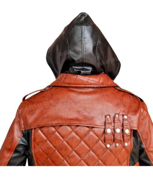 Assassins Creed Syndicate Jacob Frye Hooded Leather Coat Hood