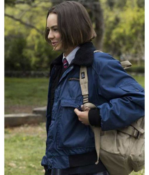 Atypical S04 Brigette Lundy-Paine Blue Parachute Jacket side